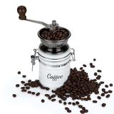 Twine Ceramic Manual Burr Coffee Grinder in Gray/White, Size 6.5 H x 3.25 W x 3.25 D in   Wayfair 3851