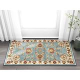 """Sultan Sarouk Light Blue Oriental 2x 4 (2'3"""" x 3'11"""") Area Rug Persian Floral Formal Traditional Area Rug Easy Clean Stain Fade Resistant Shed Free Modern Classic Contemporary Thick Soft Plush Doormat"""