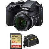 Nikon COOLPIX B500 Digital Camera with Accessory Kit (Black) 26506