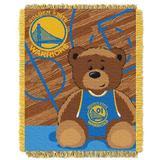 Northwest Co. NBA Warriors Half Court Baby Throw in Yellow, Size 46.0 H x 36.0 W in   Wayfair 1NBA044010009RET