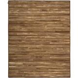 Calvin Klein Prairie Geometric Handmade Cowhide Amber Area Rug Cowhide in Brown/Orange, Size 144.0 H x 108.0 W x 0.5 D in   Wayfair 099446444455