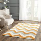 Latitude Run® Lily Handwoven Flatweave Wool/Cotton/Silk Gray/Orange Area Rug Silk/Cotton/Wool in White, Size 60.0 H x 36.0 W x 0.25 D in | Wayfair