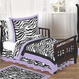 Sweet Jojo Designs Zebra 5 Piece Toddler Bedding Set 100% Cotton in Indigo | Wayfair Zebra-PU-Tod