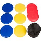 Trademark Innovations 9 Piece Disc Golf Set w/ Carrying Case Plastic in Yellow, Size 6.0 H x 10.0 W x 10.0 D in | Wayfair DISCGLF-9PC-RYB