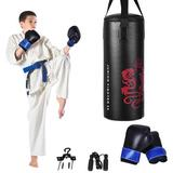 Costway 2ft Kids Gloves Skipping Rope Boxing Set
