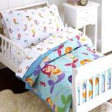 Wildkin Mermaids 4 Piece Toddler Bedding Set Polyester in Blue   Wayfair 88694