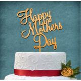 aMonogram Art Unlimited Happy Mother's Day Cake Topper Wood in Yellow | Wayfair 94227PGG