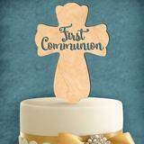 aMonogram Art Unlimited First Communion Cross Cake Topper Wood in Yellow | Wayfair 94165PGG