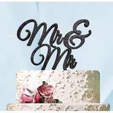 aMonogram Art Unlimited Mr. & Mr. Cake Topper Wood in Yellow | Wayfair 942471PGG