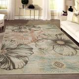 Wildon Home® Garda Floral Ivory/Cream Area Rug Polypropylene in Brown/White, Size 59.0 H x 39.0 W x 0.39 D in | Wayfair CST43235 30000101