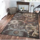 Wildon Home® Garda Floral Area Rug Polypropylene in Brown, Size 126.0 H x 94.0 W x 0.39 D in | Wayfair CST43230 30000078
