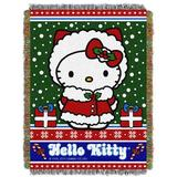 Northwest Co. Hello Kitty Snow Kitty Throw Polyester in Blue/Green/Red, Size 48.0 W in | Wayfair 1SAN051000001RET