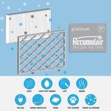 Accumulair Furnace Air Filter in Gray, Size 20.0 H x 15.0 W x 1.0 D in | Wayfair FA15X20_4