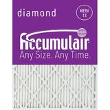 Accumulair Furance Air FIlter in Gray, Size 15.75 H x 24.75 W x 1.0 D in | Wayfair FD16X25_4