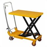 Wesco Industrial Products 330 lb. Capacity Light Duty Scissor Table Dolly Metal, Size 36.0 H x 17.75 W x 37.0 D in   Wayfair 260201