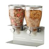 Honey-Can-Do KCH-06149 17-1/2 Oz Capacity Countertop Dual Food Dispenser with Stainless Steel Base
