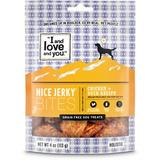 I and Love and You Nice Jerky Bites Chicken & Duck Grain-Free Dog Treats, 4-oz bag