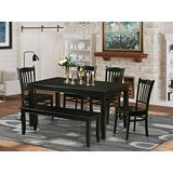 6-Pc Dining room set- Kitchen Table and 4 Kitchen Dining Chairs and Bench
