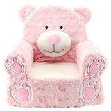 "Animal Adventure | Sweet Seats | Pink Bear Children's Plush Chair ,Large/14"" x 19"" x 20"""