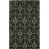 Wildon Home® Paisley Hand Loomed Area Rug Viscose/Wool in Black, Size 120.0 H x 96.0 W x 0.5 D in | Wayfair CST42439 29764469
