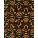 Wildon Home® Ikat Handmade Tufted Wool Brown/Taupe/Red Area Rug Wool in Brown/Red, Size 48.0 H x 48.0 W x 0.75 D in   Wayfair CST42433 29764438