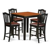 5 Pc counter height Kitchen table set - Kitchen dinette Table and 4 Kitchen Dining chair.
