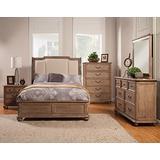 Alpine Furniture Melbourne Upholstered Sleigh Bed, King Size