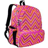 Wildkin Kids 17 Inch Backpack for Boys and Girls, Perfect Size for Middle, Junior, and High School, 600-Denier Polyester Fabric Kids Backpack Measures 17 x 12 x 9 Inches (Zigzag)