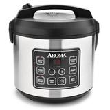 Aroma 5 Qt. Cool Touch Digital Slow Cooker, Food Steamer & Rice Cooker in Gray, Size 10.83 H x 11.22 W x 10.83 D in   Wayfair ARC-150SB