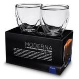 Ozeri Moderna Artisan Series 2 oz. Double Wall Glass Glass, Size 2.25 H x 2.38 W in   Wayfair DW020A-2
