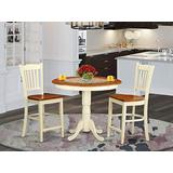 3 PC Dining counter height set-pub Table and 2 Dining Chairs.