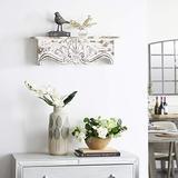 "Deco 79 Wood Wall Shelf, 28 by 9"""