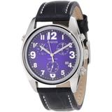 Jowissa Men's J7.007.L Ginebra Blue Dial Chronograph Leather Watch