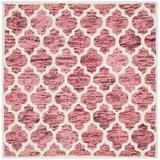 Winston Porter Bertok Geometric Handmade Flatweave Wool Red/Ivory Area Rug Wool in Brown/White, Size 72.0 W x 0.63 D in   Wayfair VKGL4365 30574989