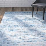 Wrought Studio™ Nasir Handwoven Wool Blue Area RugWool in Blue/Brown, Size 72.0 H x 48.0 W x 0.63 D in | Wayfair VKGL4363 30574970