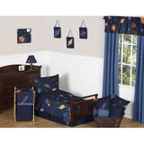 Sweet Jojo Designs Space Galaxy 5 Piece Toddler Bedding Set Polyester in Blue/Green/Navy | Wayfair SpaceGalaxy-Tod