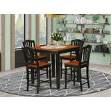 5 PC counter height pub set-pub Table and 4 bar stools