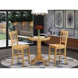 3 Pc Dining counter height set - high top Table and 2 dinette Chairs.