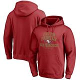 Men's NFL Pro Line Red San Francisco 49ers Faith Family Pullover Hoodie
