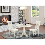 3 PC Dining room set for 2-Kitchen Table and 2 Kitchen Dining Chairs