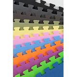 IncStores Premium Interlocking Foam Tiles (Lime Green, 12 Tiles) - Ideal for p90x, Insanity, Pilates, Yoga, Other Aerobic/Cardio Work Outs, and Kids playrooms