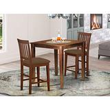 3 Pc Counter height Table-Square gathering Table and 2 Stools
