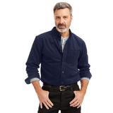 Men's John Blair Corduroy Shirt, Navy Blue 2XL Tall