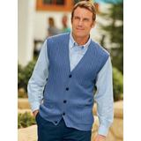 Men's John Blair Cable-Front Vest, Smoky Blue S Regular