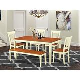 6 Pc dinette Table set - Dinette Table and 4 Kitchen Chairs coupled with Bench