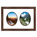 Frames By Mail 2 Opening Picture Frame Wood in Brown, Size 20.0 H x 27.5 W x 1.0 D in | Wayfair multimat-58812-610