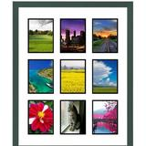 Frames By Mail 9 Opening Collage Picture Frame Wood in Green, Size 29.5 H x 23.5 W x 1.0 D in | Wayfair multimat-58675-107