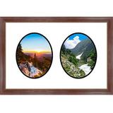 Frames By Mail 2 Opening Picture Frame Wood in Brown, Size 18.5 H x 26.0 W x 1.0 D in | Wayfair multimat-58812-aam6003