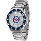 """""""Men's Silver Minnesota Twins Key Stainless Steel Watch"""""""
