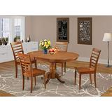 5 Pc Dining set-Oval Dining Room set-Leaf and 4 Dining Chairs